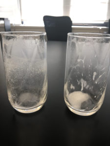 スマートコリンWの混ぜ方-飲み終わったコップ